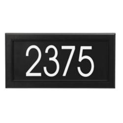 PRO-DF Plaque d'Adresse Moderne Rectangulaire, Noir
