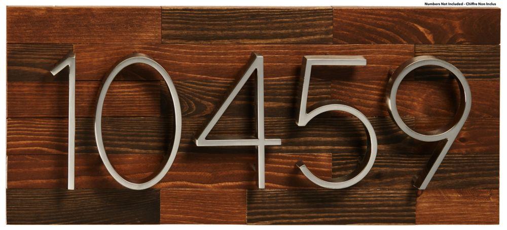 PRO-DF Rustic Wood Address Plaque, Large