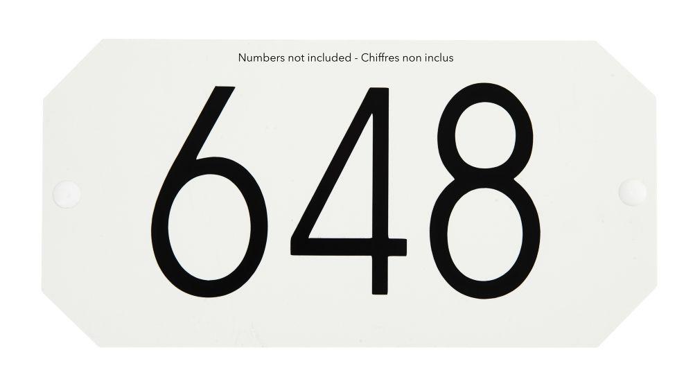 Plaque d'Adresse Octogonale, Blanc