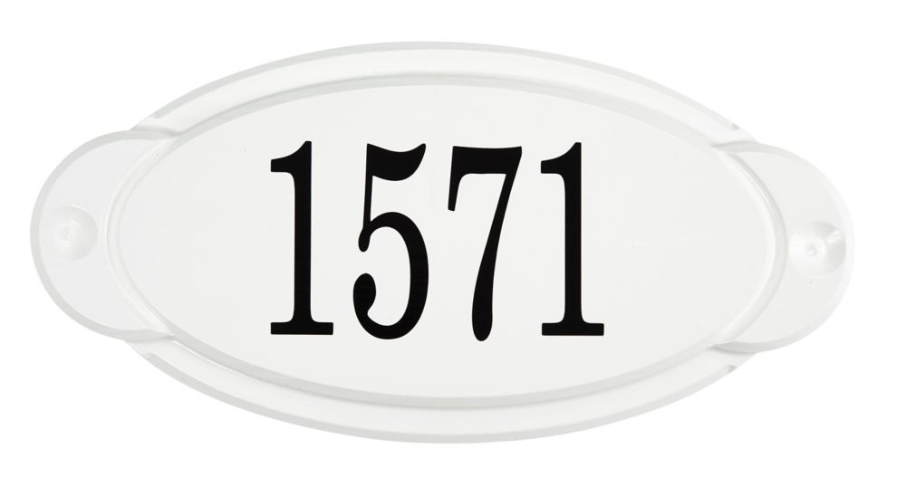 Classic Thermoplastic Address plaque, White