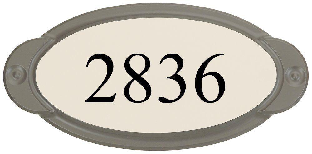 Classic Thermoplastic Address plaque, Mocha / Sand