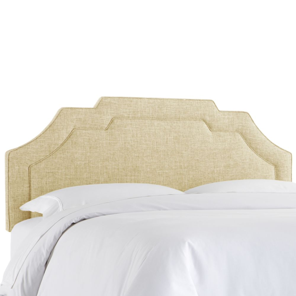 King Notched Border Headboard In Zuma Rawhide