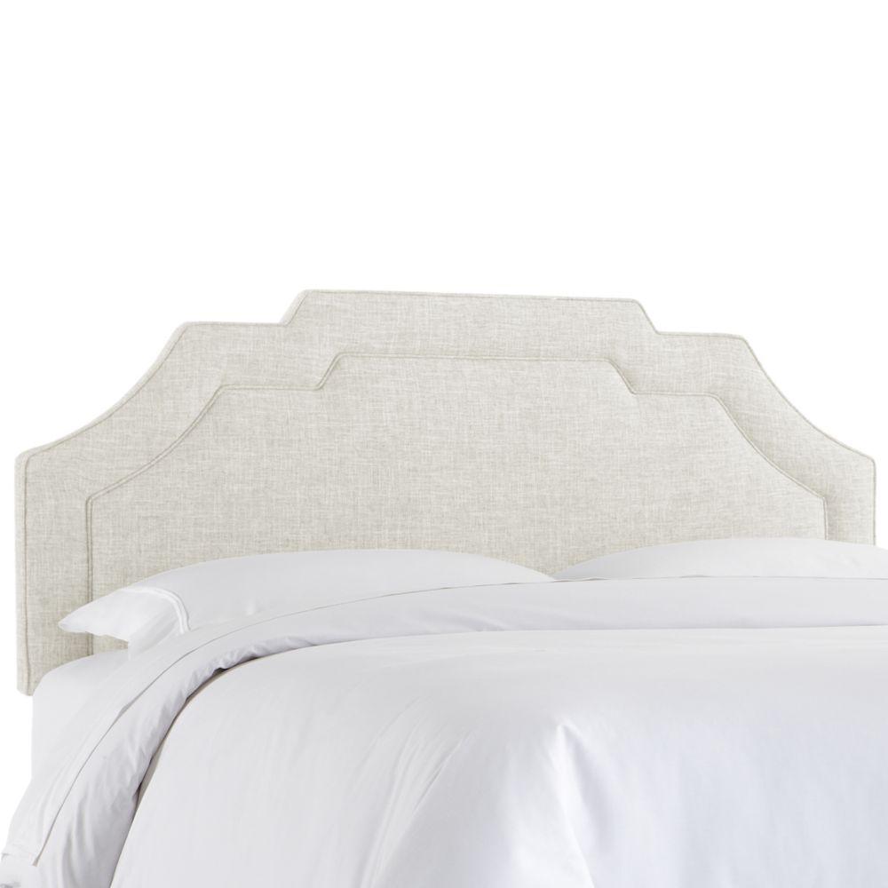 Tête de lit rembourrée roi en zuma blanc