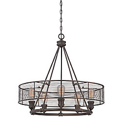 Eurofase Terra Collection, 5-Light Bronze Chandelier
