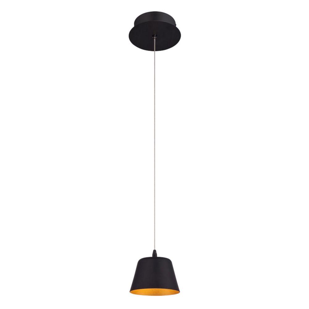 Bowes Collection, 1-Light LED Black Pendant