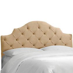 Skyline Furniture Tête de lit rembourrée jumeau en velours sarrasin