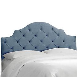 Skyline Furniture Tête de lit rembourrée roi en velours océan