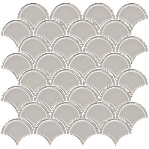 Enigma Cosmo Zinc Scallop Glass Mosaics
