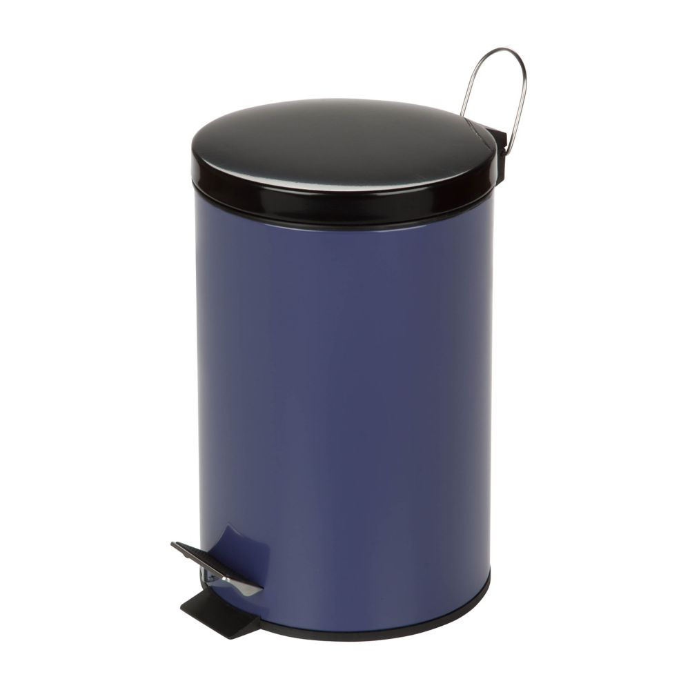 Honey-Can-Do International 3 Gal. Purple Round Metal Step-On Touchless Trash Can