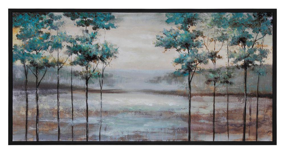 Hazy Fields Canvas Art