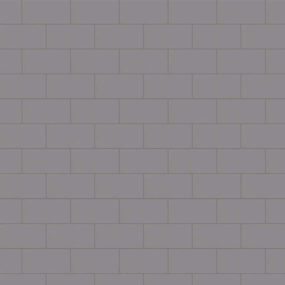 Rittenhouse Square Suede Gray 3 Inch x 6 Inch Ceramic Wall Tile (12 Sq.Ft./Case)