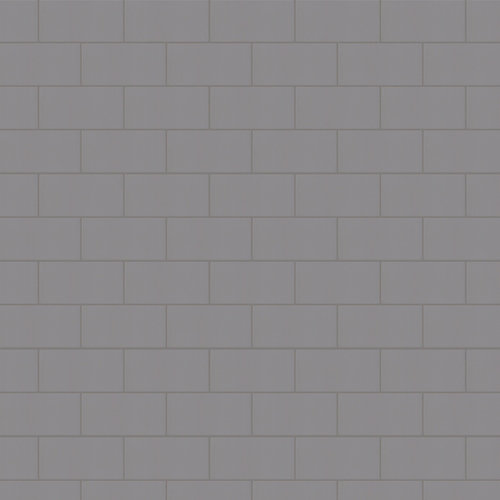 Rittenhouse Square Suede Gray 3 Inch x 6 Inch Ceramic Wall Tile