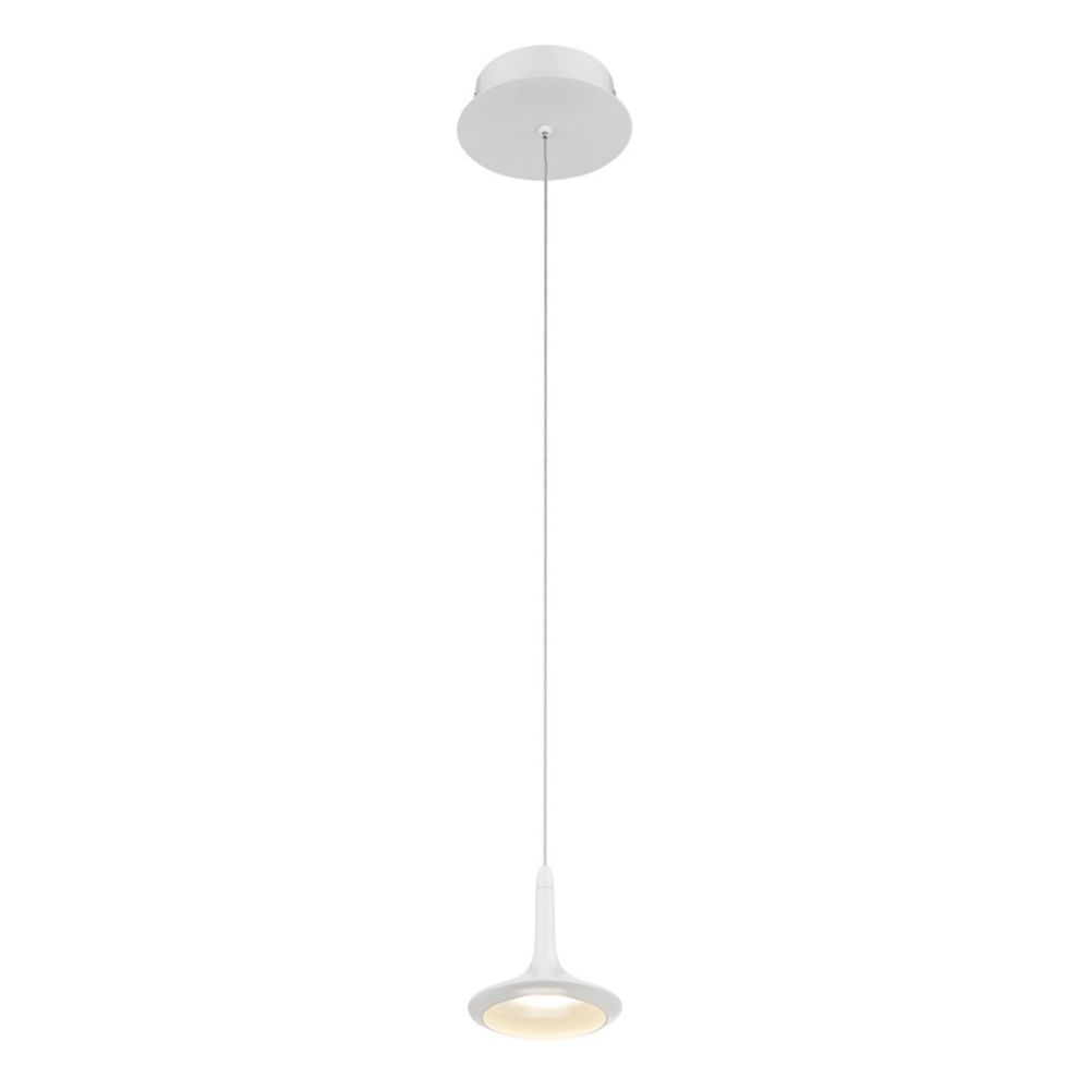 Knoll Collection, 1-Light LED White Pendant