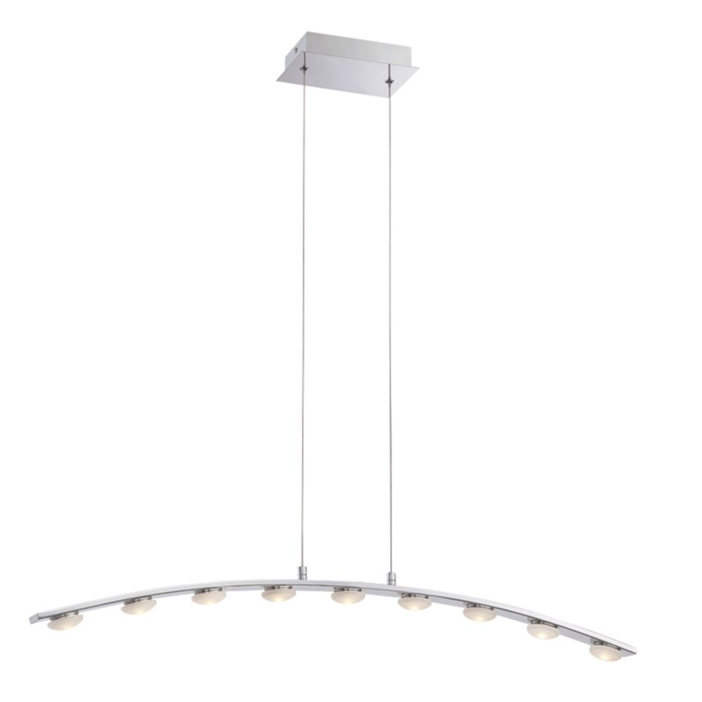Collection Richmond, luminaire suspendu chrome à 9 ampoules DEL