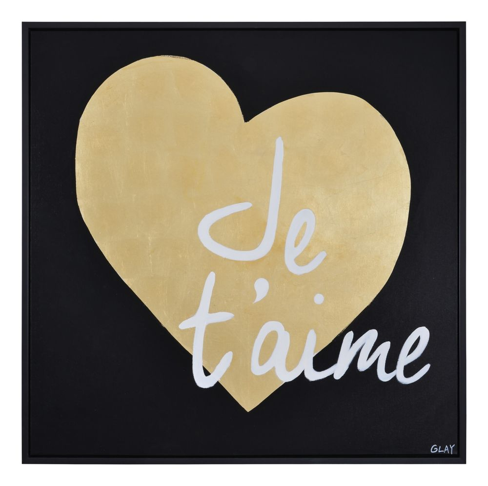 Je T'aime Canvas Art