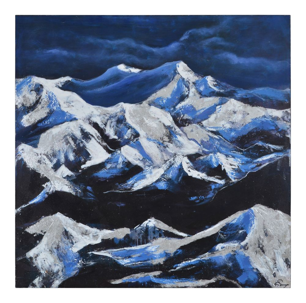 Snow Capped Peaks Canvas Art
