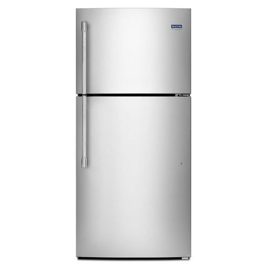 Maytag 30-inch W 19 cu.ft. Top Freezer Refrigerator in Finger Print Resistant Stainless Steel