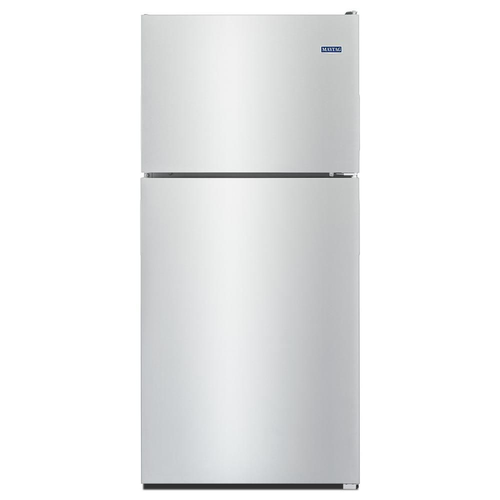 Maytag 33-inch W 21 cu.ft. Top Freezer Refrigerator in Monochromatic Stainless Steel