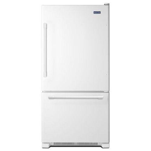 Maytag 30-inch W 18.6 cu.ft. Bottom Freezer Refrigerator in White - ENERGY STAR®