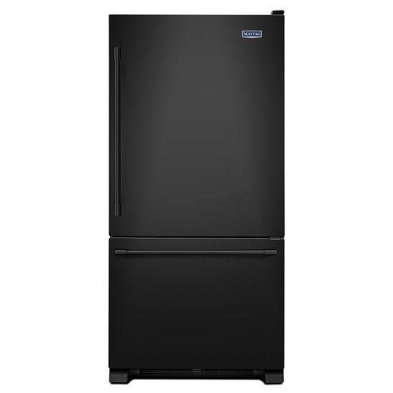 Maytag 30-inch W 19 cu.ft. Bottom Freezer Refrigerator in Black - ENERGY STAR®