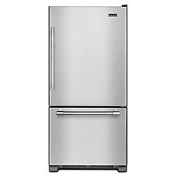 30-nch W 19 cu.ft Bottom Freezer Refrigerator in Stainless Steel - ENERGY STAR®