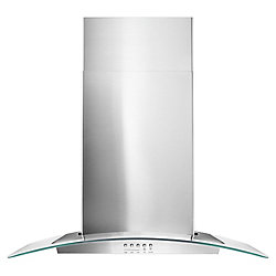 Whirlpool 30-inch Wall Mount Range Hood in Stainless Steel