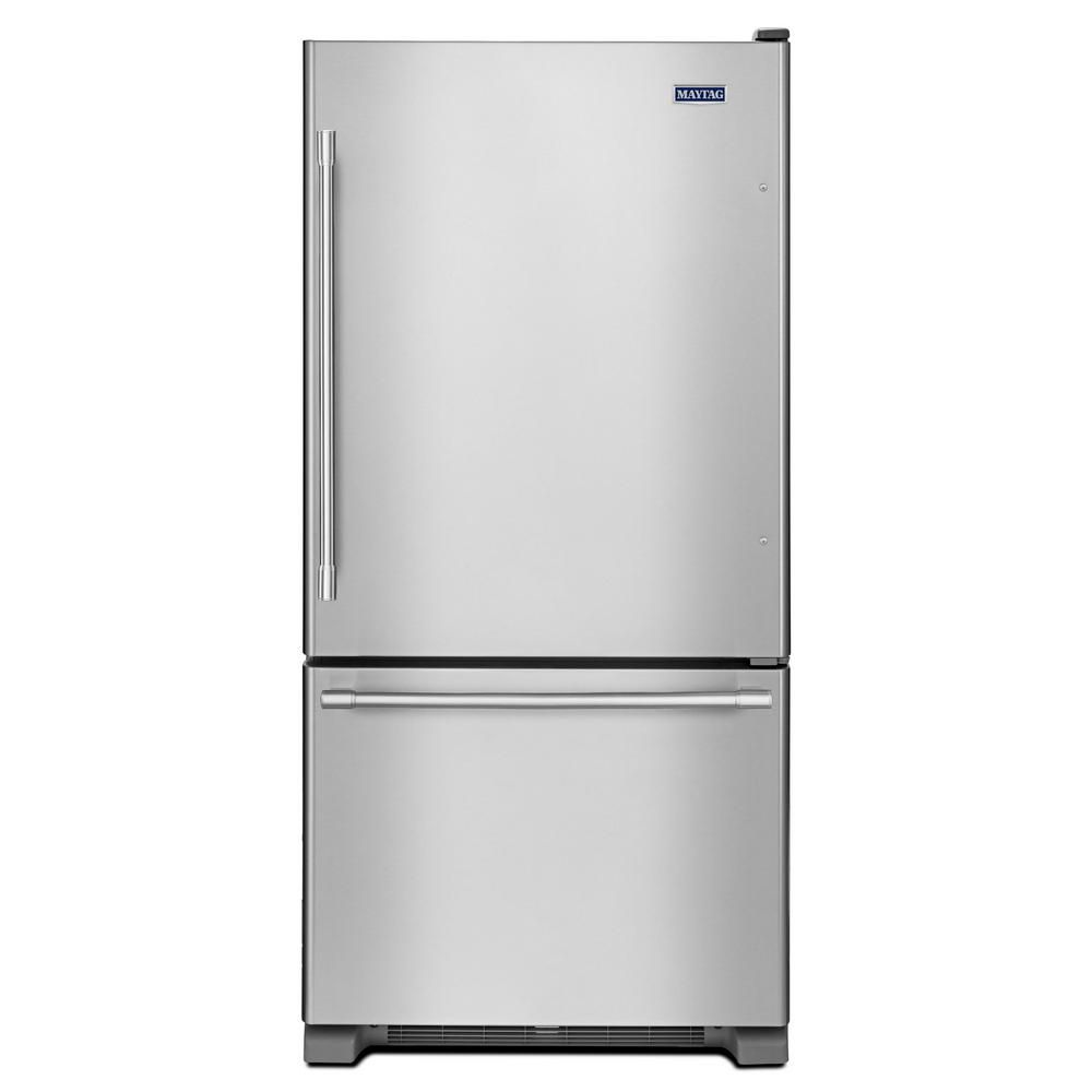 33-inch Wide Bottom Mount Refrigerator with Humidity-Controlled Crispers - 22 cu. Feet