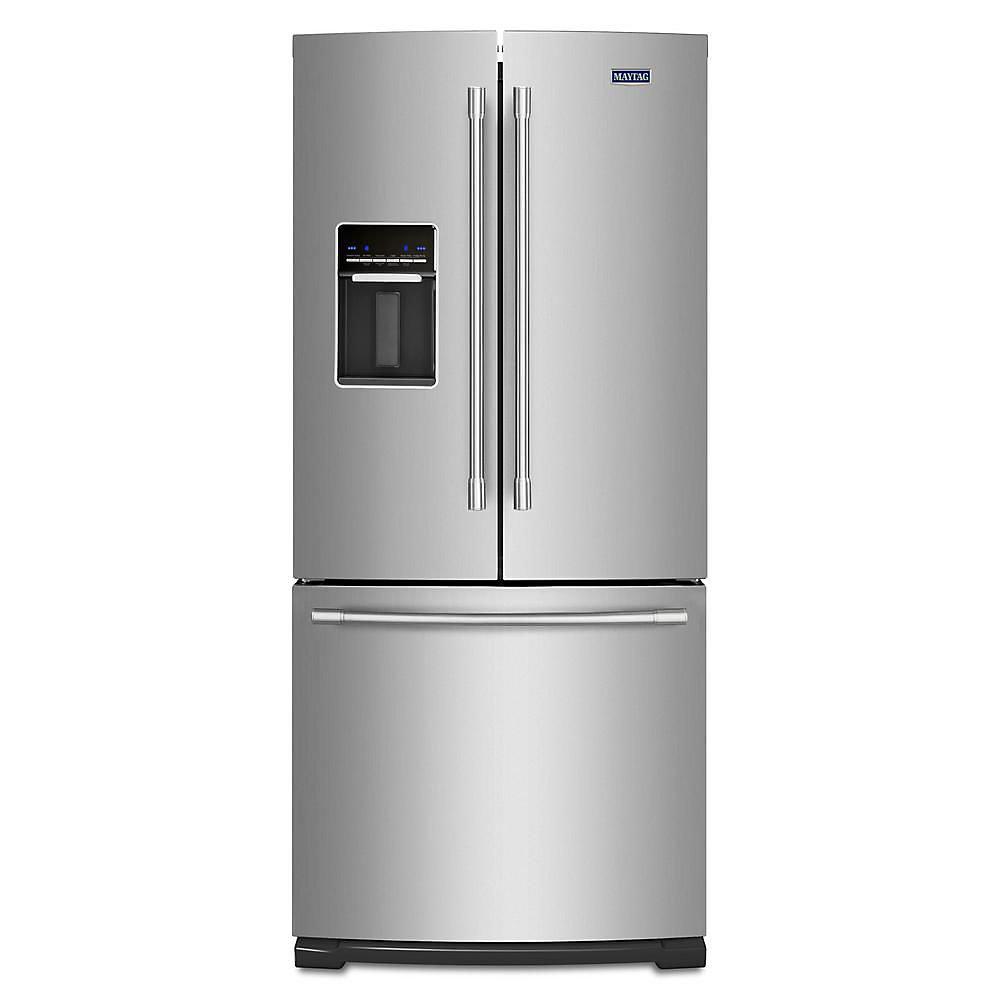 30-inch W 20 cu. ft. French Door Refrigerator in Fingerprint Resistant Stainless Steel
