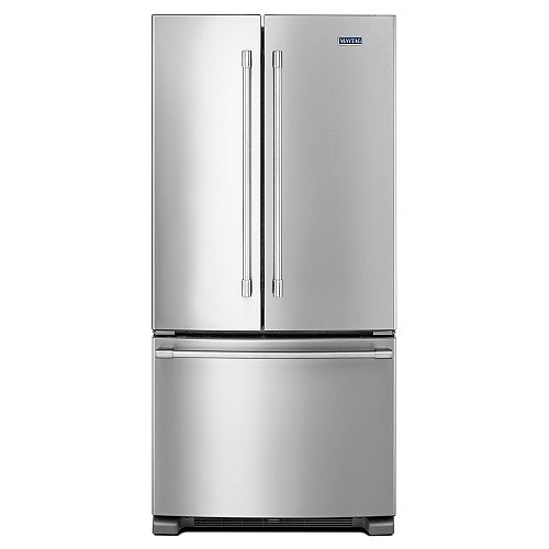 Maytag 33-inch W 22 cu. ft.  French Door Refrigerator in Stainless Steel - ENERGY STAR®