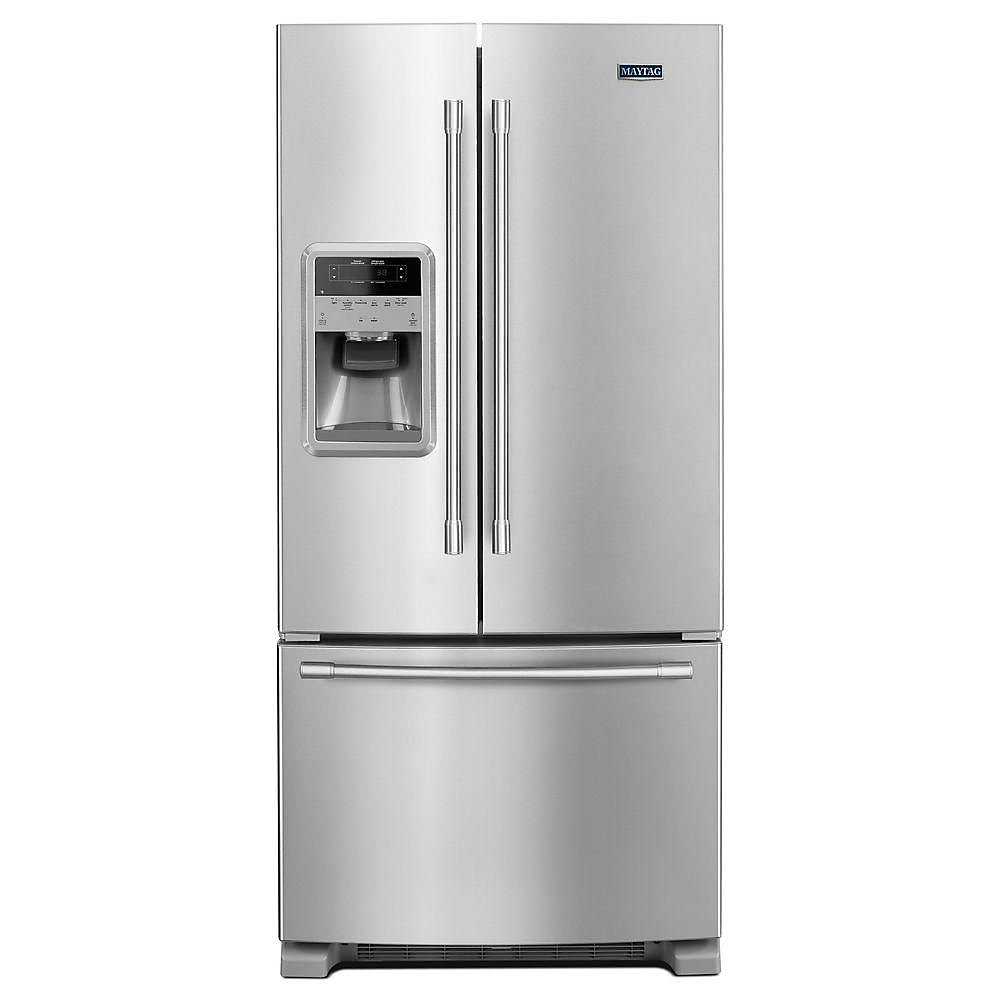 Maytag 33 Inch W 22 Cu Ft French Door Refrigerator In