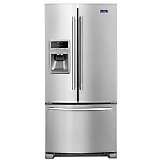 33-inch W 22 cu.ft. French Door Refrigerator in Stainless Steel
