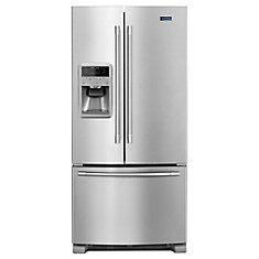 33-inch W 22 cu.ft. French Door Refrigerator in Fingerprint Resistant Stainless Steel