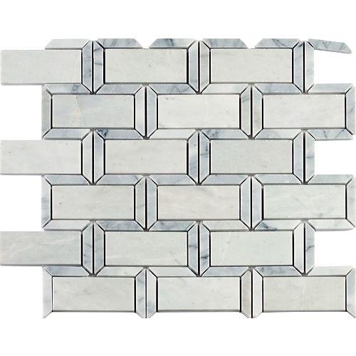 MSI Stone ULC Carreaux de mosaïque de marbre poli Framework de 12po x 12po montés sur filet
