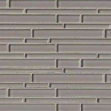 Tennessee Gray interlocking 12 Inch x 12 Inch x 6mm glass mesh mounted mosaic tile (15 SqFeet/ Ca...