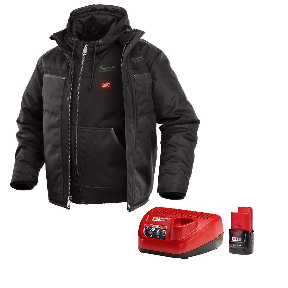 Milwaukee Tool M12 Heated 3-in-1 Jacket Kit - Black - Large