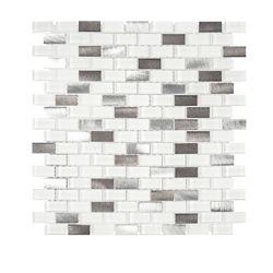 Jeffrey Court Arctic Thunder 10.625-inch x 12-inch x 6mm Glass/Stone/Metal Mosaic Tile