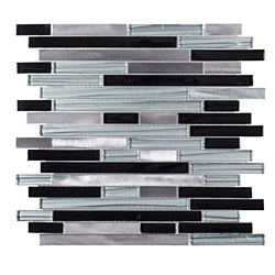 Jeffrey Court Binary Code 11.625-inch x 11.75-inch x 6mm Glass / Metal Mosaic Tile