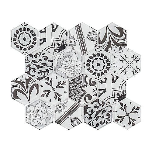 Morris Block 12 Inch x  10.375 Inch x 6mm Glass Mosaic Tile