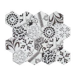 Jeffrey Court Morris Block 12 Inch x  10.375 Inch x 6mm Glass Mosaic Tile