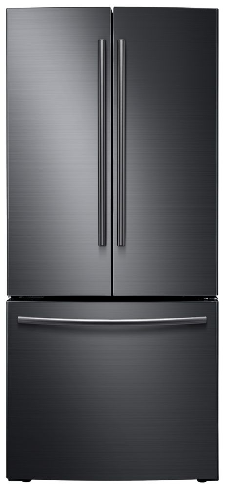 Samsung 21.6 cu.Feet 3 Door French Door Black Stainless Steel Refrigerator - RF220NCTASG