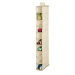 Honey-Can-Do International 10-Shelf Hanging Shoe Organizer in Natural