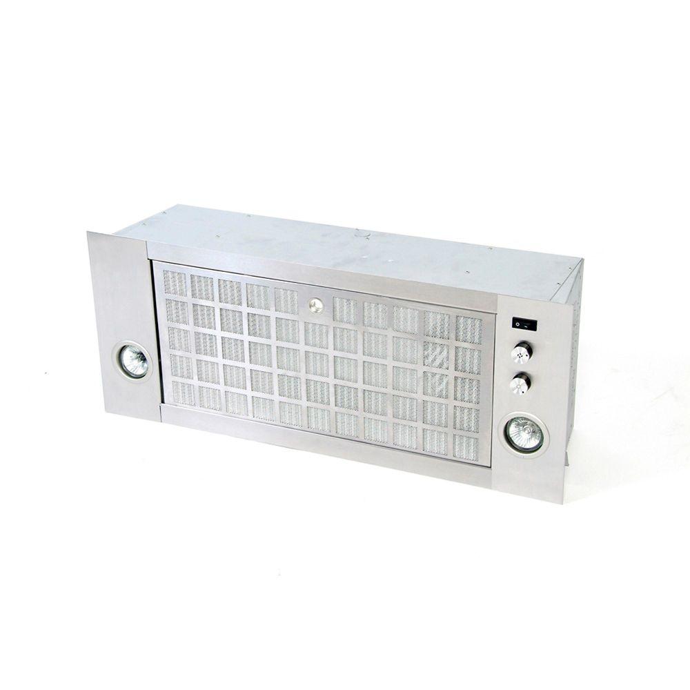 Module encastrable, 290 pi3/min, acier inoxydable brossé