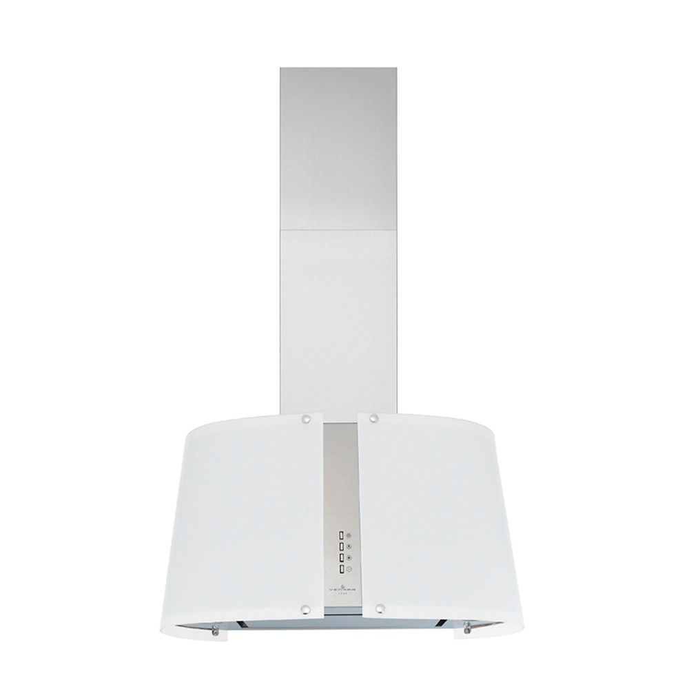 Chimney Style Hood, 30 Inch, Stainless Steel and Frosted Glass, 370 CFM