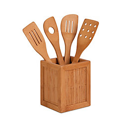 Honey-Can-Do International Bamboo Utensil Kitchen Caddy