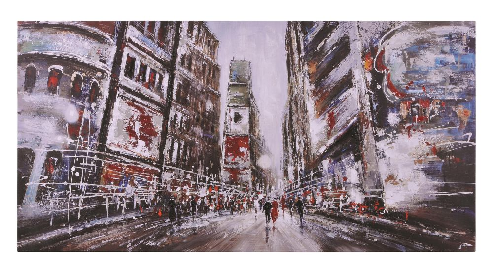 Evening In Times Square Canvas Art