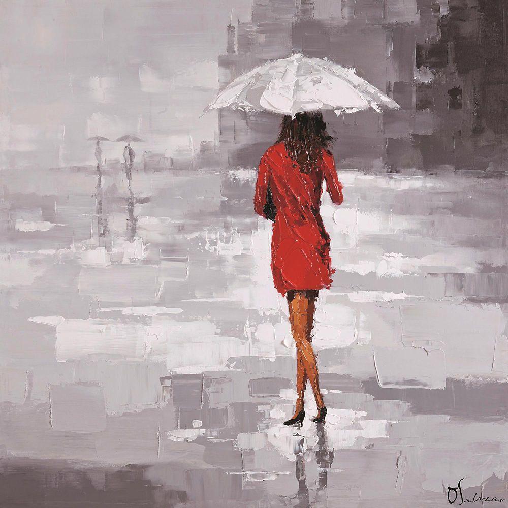 Red Rain Canvas Art