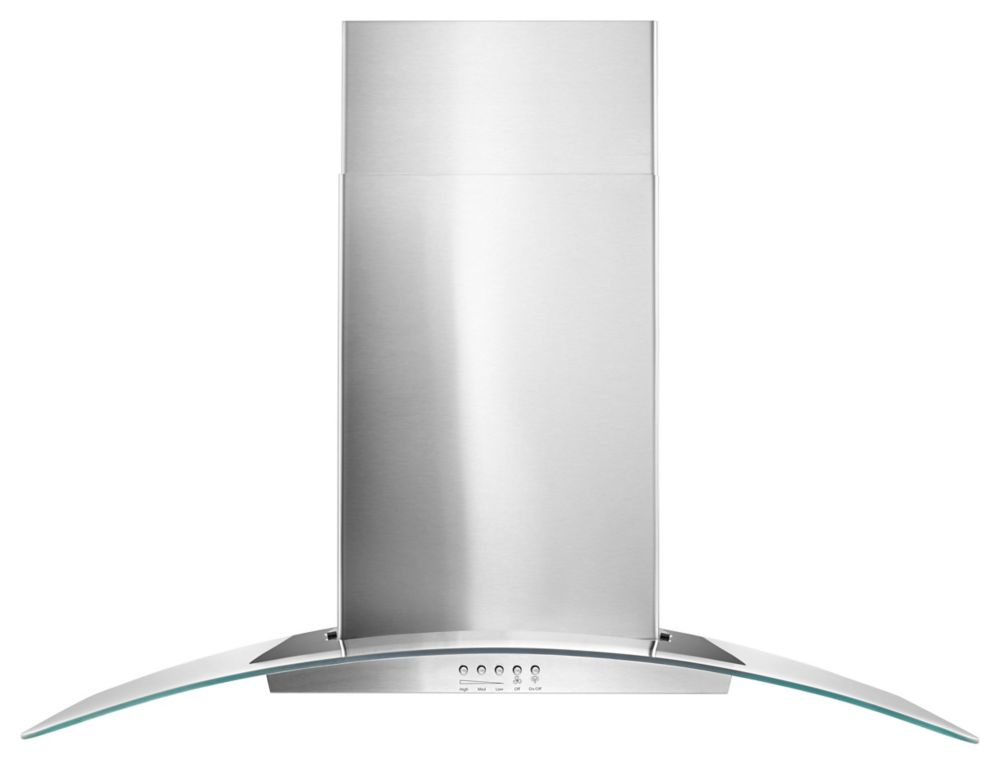 36 Inch Contemporary Stainless Steel Wall Mount Range Hood