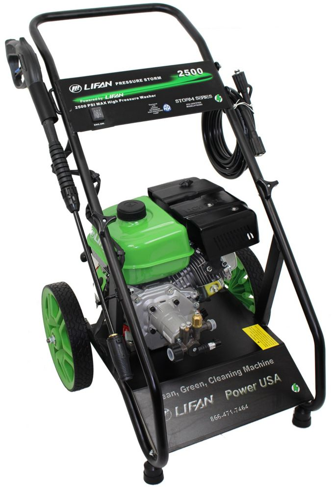 Pressure Storm Series 2500 PSI 2.0 GPM Recoil Start Gas Pressure Washer with AR Axial Cam Pump