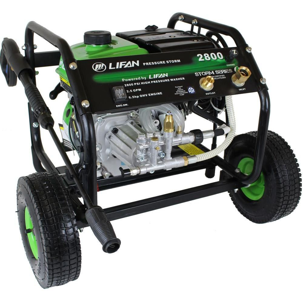 2,800-PSI 2.3-GPM AR Axial Cam Pump Recoil Start Gas Pressure Washer with Panel Mounted Controls