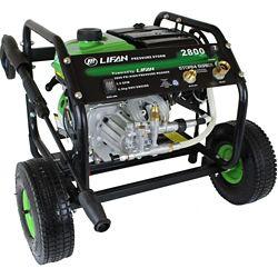 LIFAN Nettoyeur HP à ess. 2800 lb/po2 2,3gal/min, pompe à came axiale AR, lanceur à rappel, pan. comman.